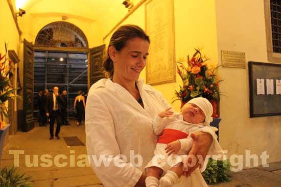 La signora Ascenzi con il piccolo