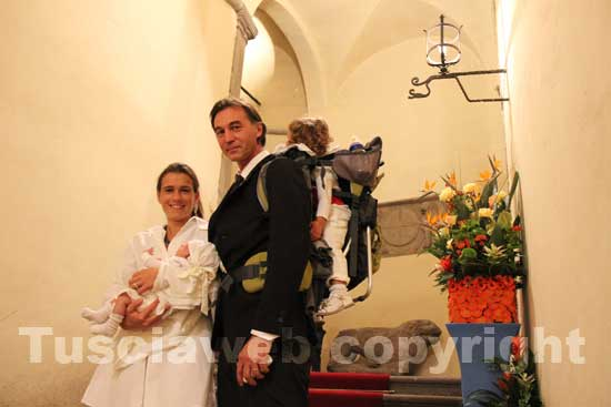 Raffaele Ascenzi con la sua famiglia