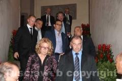 Il prefetto Antonella Scolamiero, il questore Gianfranco Urti, il pm Massimiliano Siddi