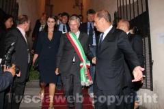 Il sindaco Michelini affiancato dal suo vice Luisa Ciambella e dal presidente della Regione Lazio Zingaretti