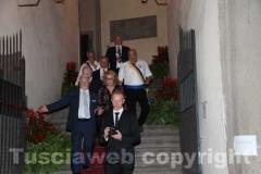 Il prefetto Scolamiero, il viceprefetto vicario Francesco Tarricone, il capofacchino Sandro Rossi e il presidente del Sodalizio dei facchini Massimo Mecarini