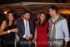 A sinistra il consigliere comunale Gianmaria Santucci