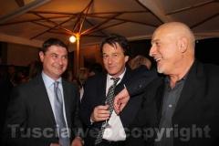 Mazzoli, il sindaco di Bagnoregio Francesco Bigiotti e il presidente di Confartigianato Stefano Signori