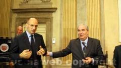 Il premier Letta e l\'ex ministro Fioroni