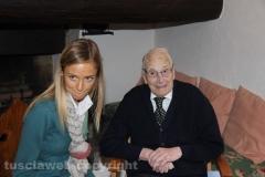 Pietro Chiodo a 106 anni durante l\'intervista