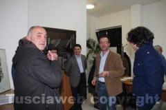 L\'attesa dei risultati delle elezioni regionali nella sede del Pd