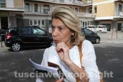 Gabriela Grassini davanti all\'Ater