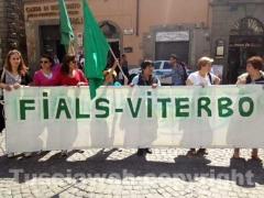 I dipendenti di Villa Rosa in piazza