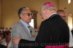 Celestini saluta il vescovo Fumagalli
