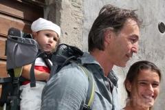 Raffaele Ascenzi al giro delle sete chiese con la famiglia