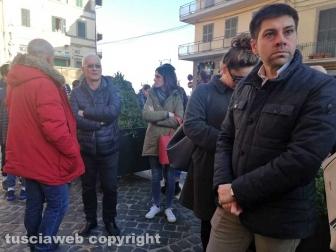 Soriano nel Cimino - I funerali di Andrea Trifolelli - Il sindaco di Oriolo Emanuele Rallo