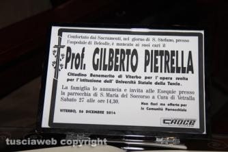 Vetralla - I funerali di Gilberto Pietrell
