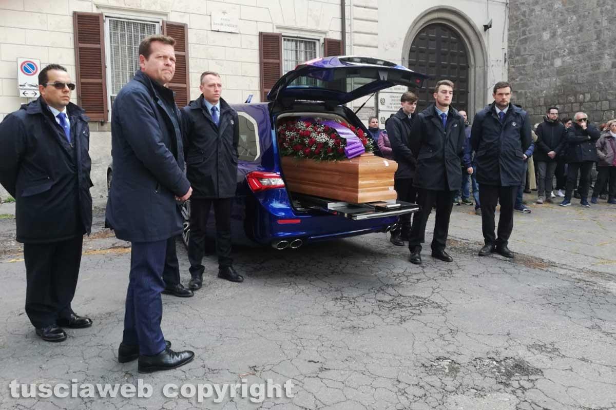 Viterbo - Omicidio in via San Luca - I funerali di Norveo Fedeli