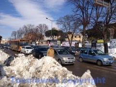 Emergenza neve, il traffico fuori le mura