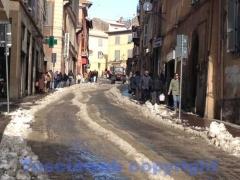 Emergenza neve, i lavori dentro le mura - Via Cairoli
