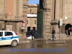 Emergenza neve, il traffico fuori le mura - Porta Romana