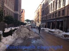Emergenza neve, i lavori dentro le mura - Via Marconi