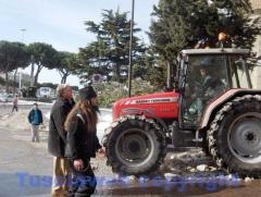 I lavori in via Cairoli alla presenza di Marini - Foto Fausto Cappelli