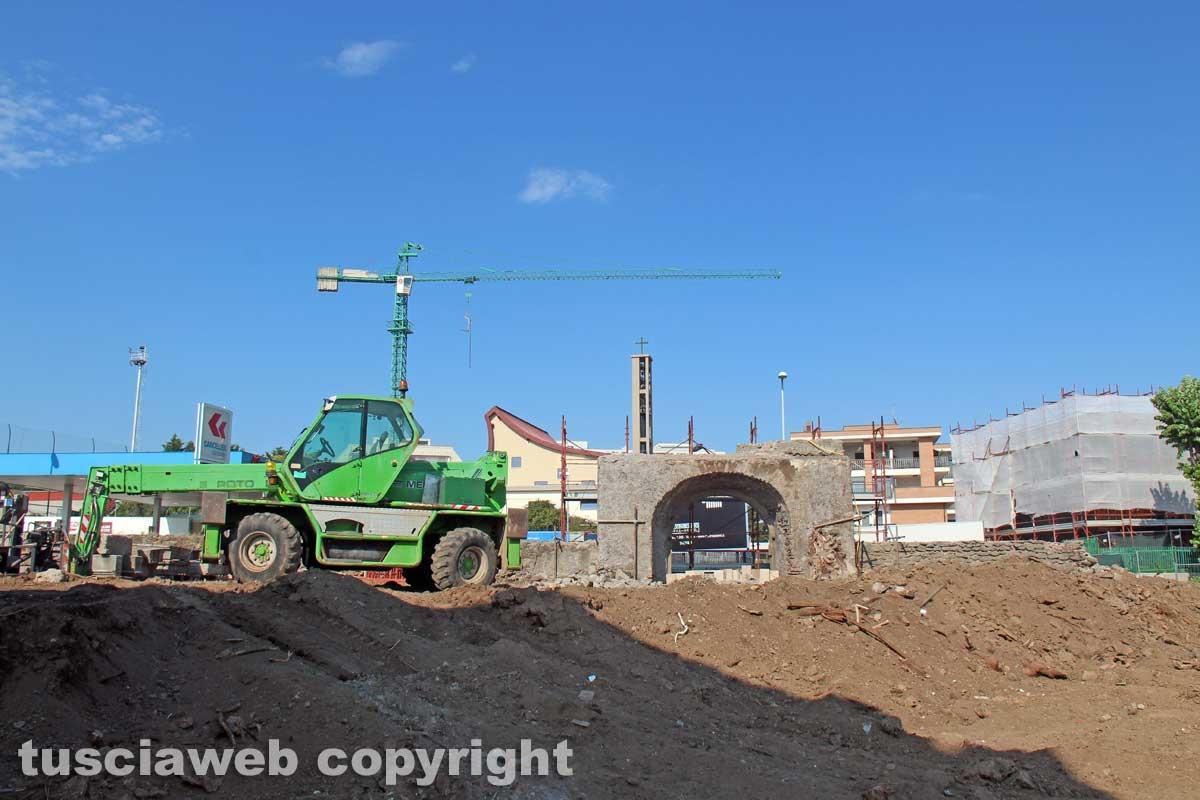 I lavori lungo la Cassia nord
