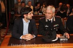 Daniele Sabatini e il colonnello Gianluca Dell\'Agnello