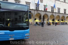 Il bus allestito per il progetto
