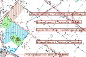 Tarquinia - I progetti per il lido - La planimetria generale