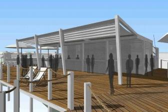 Tarquinia - I progetti per il lido - Lo stabilimento balneare