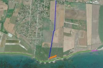 Tarquinia - La mappa d'accesso a San Giorgio (in viola il tratto interdetto)