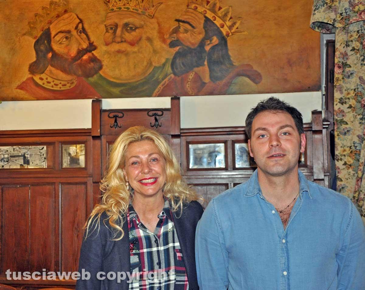 Viterbo - Ristorante I tre re - Giuliano Proietti con la madre Eleonora Di Andrea