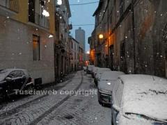La neve imbianca Viterbo
