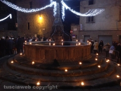 Viterbo - Pianoscarano illuminata dalle lanterne