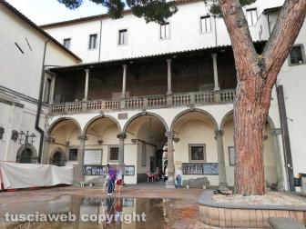 Il cortile di Palazzo Priori