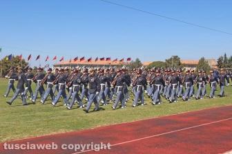 Il giuramento degli allievi marescialli alla scuola sottufficiali