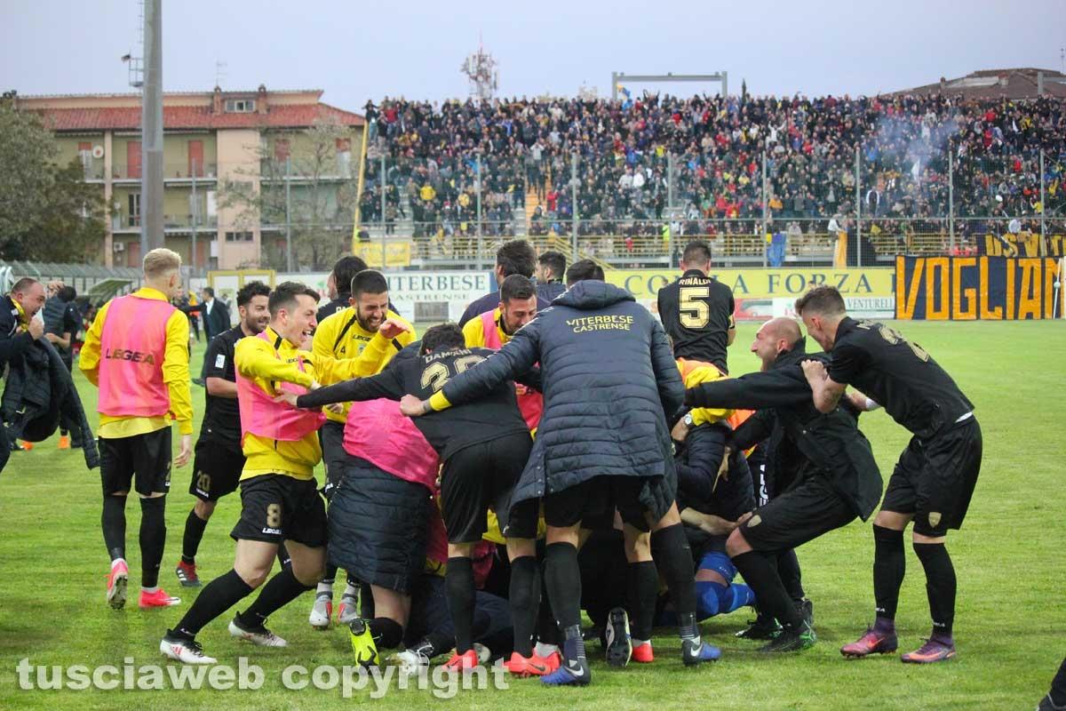 Sport - Calcio - La Viterbese vince la Coppa Italia - Il gol della vittoria