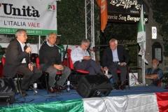 Il ministro Gaetano Quagliariello alla festa dell'Unità