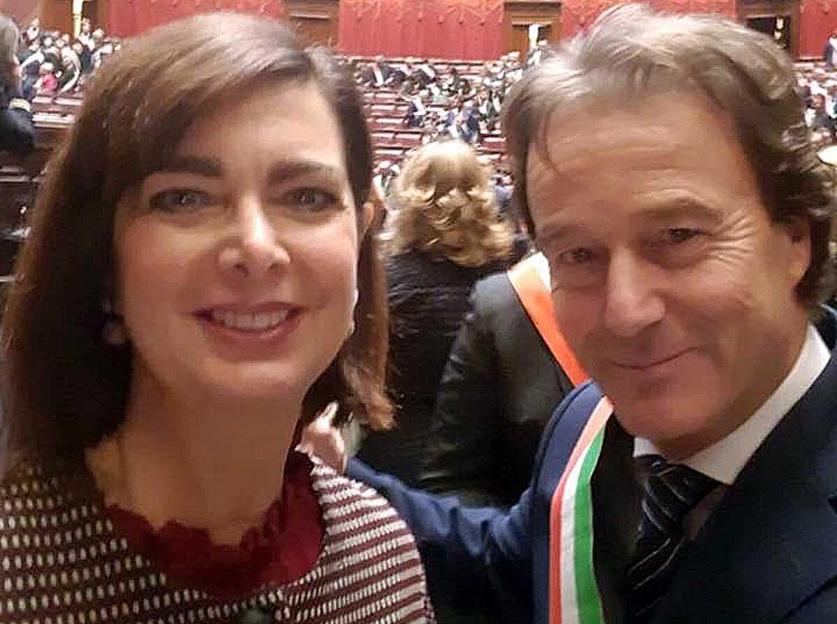 Francesco Bigiotti con Laura Boldrini