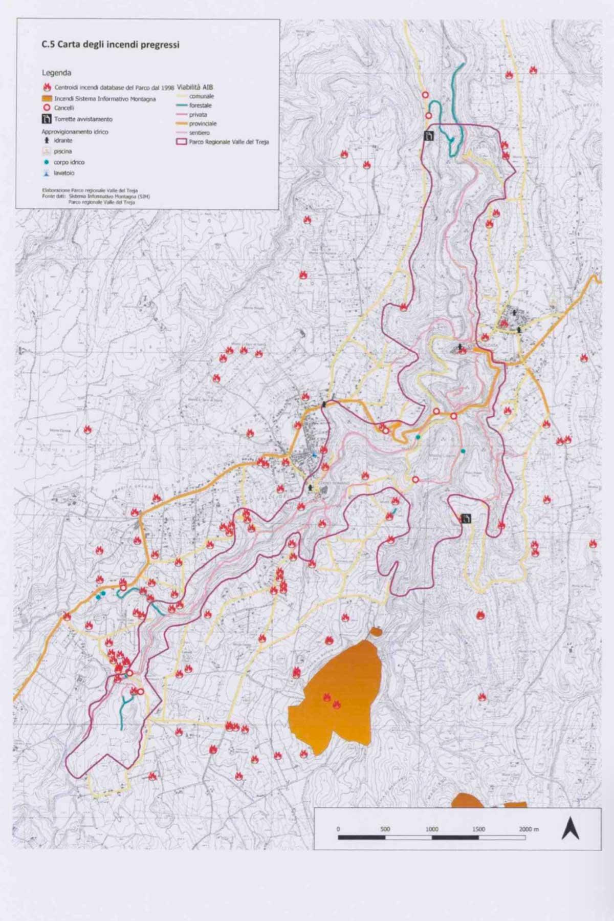 Il piano antincendio del parco Valle del Treja