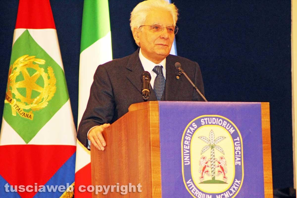 Il presidente della Repubblica all'Unitus