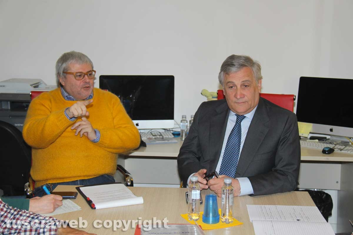 Il presidente del parlamento europeo Antonio Tajani incontra la Tusciaweb Academy