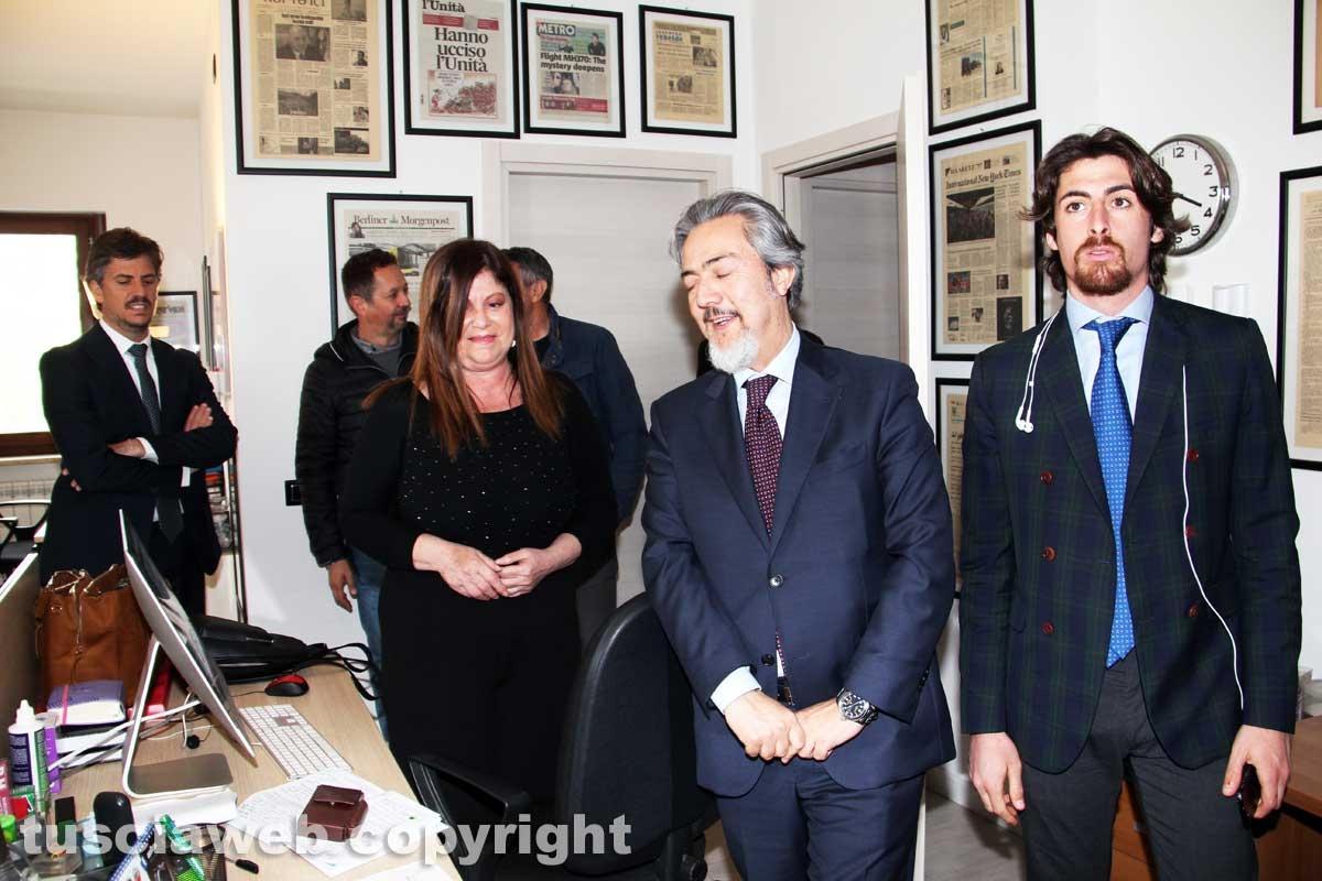 Viterbo - Il presidente del parlamento europeo Antonio Tajani in visita alla Tusciaweb Academy