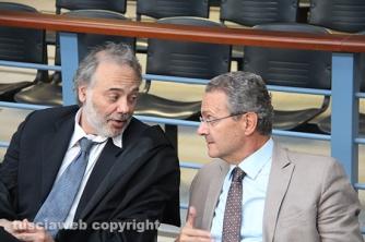 Gabbianelli e il suo avvocato in una delle passate udienze