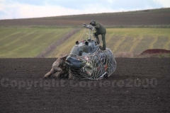 Il recupero di un Ab 206 che era crollato nei pressi di Tuscania
