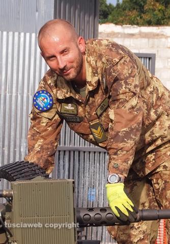Il sergente maggiore Renato Oliva in missione
