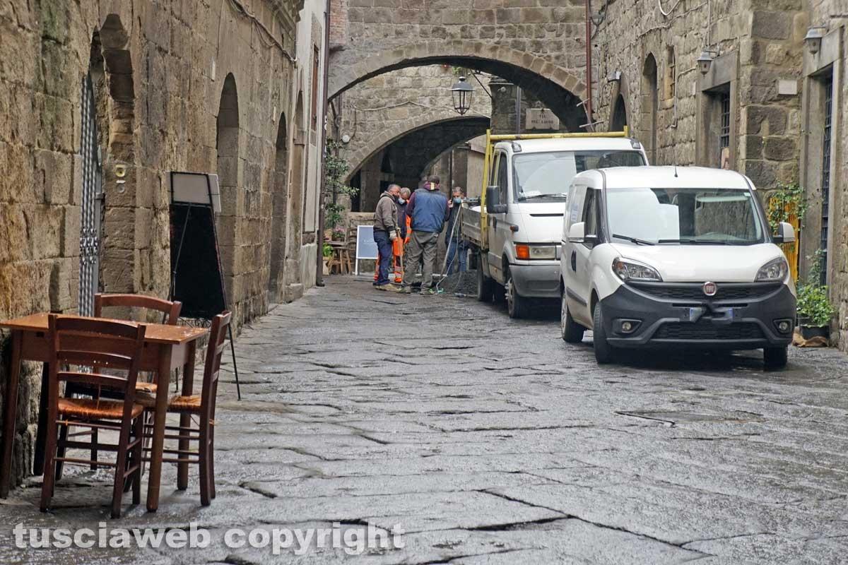 Viterbo - Il sopralluogo a San Pellegrino