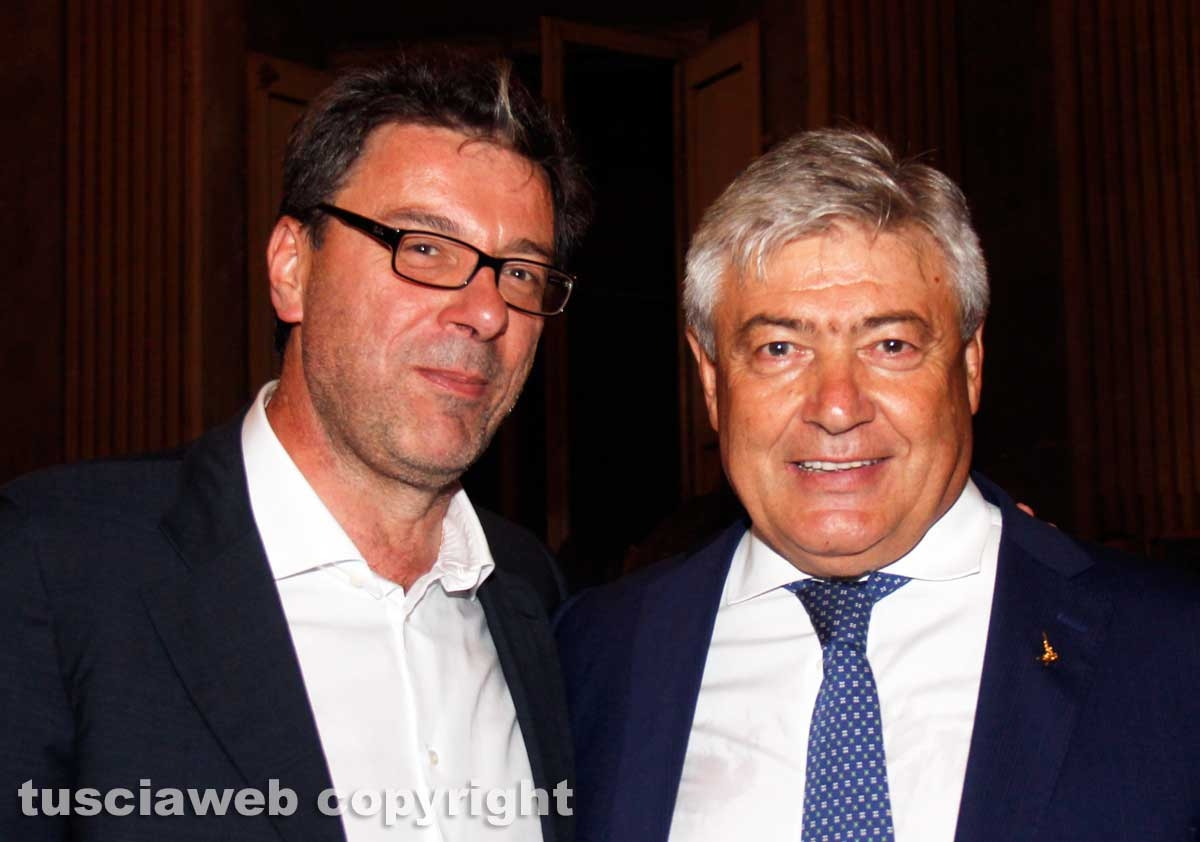 Umberto Fusco con Giancarlo Giorgetti