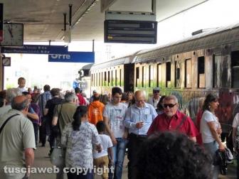 Il treno a vapore a Orte
