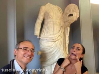 Fabrizio Viti e Barbara Bastianini al museo