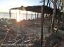 In fiamme ristorante sul lago