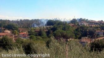 Incendio a Fabrica di Roma