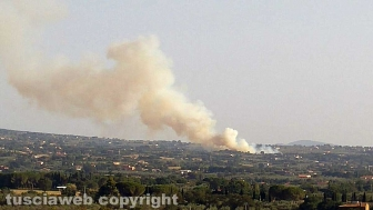 Incendio a Ponte di Cetti
